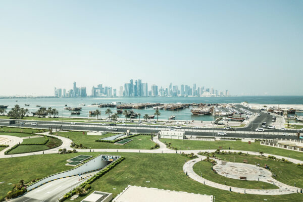 View of Doha, Qatar, December 18, 2011