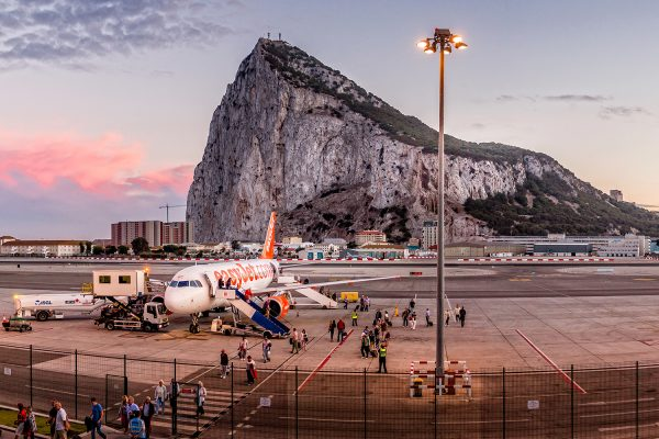 View of Gibraltar at dusk