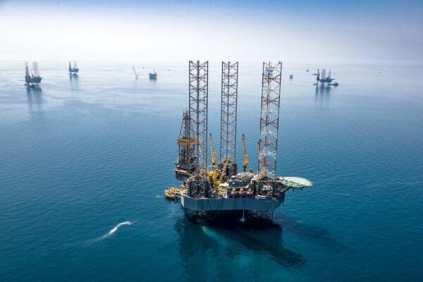 Persian Gulf drilling platforms